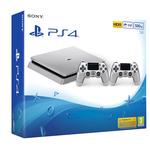 SONY PlayStation 4 - 500GB Slim Silver CUH-2016A + druhý DS4 ovladač silver / stříbrný (PS719848769)