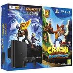 SONY PlayStation 4 - 500GB Slim Black CUH-2016A + Crash Bandicoot + RatchetClank / černý (PS719867364)