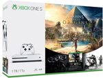 Microsoft Xbox One S 1TB White + Assassin's Creed: Origins + Rainbow Six: Siege (234-00235)