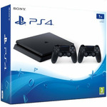 SONY PlayStation 4 - 1TB slim Black CUH-2116B + druhý DS4 / černý (PS719887164)