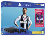 SONY PlayStation 4 - 1TB slim Black CUH-2116B + FIFA19 + druhý DS4 / černý (PS719752110)