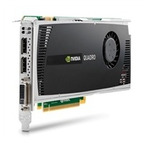 HP NVIDIA Quadro 4000 2GB GDDR5 PCIe x16 Graphics Card, 1xDVI-I (dual link), 2x display port
