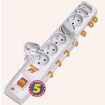 Acar P7 1.5m kabel / 5+2 zásuvek / přepěťová ochrana / bílá (8592220007256)