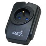 Přepěťová ochrana / 1 zásuvka / černá / LOGO (21997)