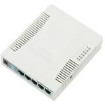 RouterBoard Mikrotik RB951G-2HnD / 128 MB RAM / 600 MHz / 5x Gigabit LAN / 1x 2,4 GHz / 802.11n / L4 (RB951G-2HnD)