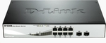 D-Link DGS-1210-08P / 8-Port PoE Gigabit Smart Switch / 6x gigabit RJ45 / 2x gigabit RJ45/SFP / Fanless (DGS-1210-08P)