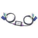 ATEN CS62A / 2-Port PS/2 KVM Switch / Speaker Support / 1.2m (CS62A-A7)