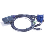 ATEN CS62U / 2-Port USB KVM Switch / Speaker Support / 1.8m (CS62U-A7)