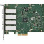 Intel Ethernet Server Adapter I340-F4 bulk / PCI Express 2.0 x4 / 1000Base-SX x 4 (E1G44HFBLK)