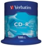 100ks CD-R 700MB Verbatim 52x / Extra Protection / Spindl
