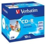 10ks CD-R 700MB Verbatim 52x / Wide Printable / JewelCase (43325)