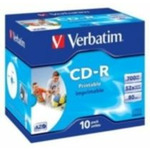 10ks CD-R 700MB Verbatim 52x / Wide Printable / JewelCase