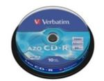 10ks CD-R 700MB AZO Verbatim 52x / Spindl
