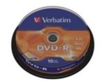 10ks DVD-R 4,7GB Verbatim 16x / Spindl (43523)