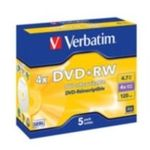 5ks DVD+RW 4,7GB Verbatim 4x / JewelCase (43229)