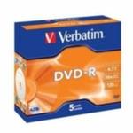 Verbatim 5ks DVD-R 4.7GB 16x / JewelCase (43519)