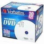 Verbatim 10ks DVD-R 4.7GB 16x / Printable / JewelCase (43521)