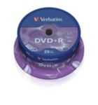 25ks DVD+R 4,7GB Verbatim 16x / Spindl (43500)