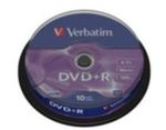 Verbatim 10ks DVD+R 4.7GB 16x / Spindl (43498)