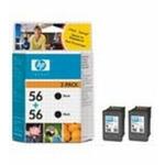 HP C6656 originální cartridge 56 / PhotoSmart 7150, 7350 / 2x19ml / Černá / 2ks (C9502AE)