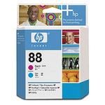 HP C9382 originální tisková hlava 88 / Officejet k550 / Fialová + modrá (C9382A)