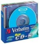 5ks mini CD-R 210MB Verbatim 24x / barevn� / SlimCase