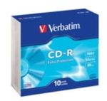 10ks CD-R 700MB Verbatim 52x / Extra Protection / SlimCase