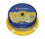 25ks DVD+RW 4,7GB Verbatim 4x / Spindle (43489)