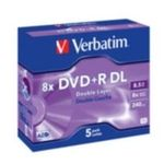 Verbatim 5ks DVD+R DL 8.5GB 8x / JewelCase (43541)