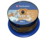 VERBATIM DVD-R(50-Pack)Spindle/Inkjet Printable/16x/4.7GB (43533)