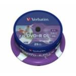 VERBATIM DVD+R 8,5GB 2,4x PRINT spindl 25pck/BAL (43572)
