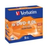 5ks DVD-R DL 8.5GB Verbatim 4x / JewelCase