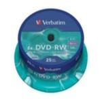 25ks DVD-RW 4.7GB Verbatim 4x / Spindl (43639)