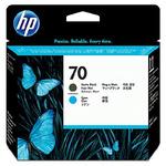 HP C9404A originální tisková hlava 70 / Designjet Z2100, Z3100 / Black + cyan (C9404A)