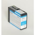 Epson originální cartridge T5802 / Stylus Pro 3800 / 80ml / azurová (C13T580200)