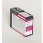 Epson originální cartridge T5801 / Stylus Pro 3880 / 80ml / Vivid Magenta (C13T580A00)