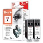 Peach C3 alternativní inkoustová kazeta pro Canon BJC-3000 / BJC-6000 / TwinPack / černá (313019)