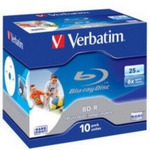 Verbatim BD-R DL 50GB 6x, printable, jewel, 10ks (43736)