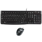 Logitech Desktop MK120 / Klávesnice a myš / CZ verze / USB / Černá (920-002536)