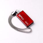 SILICON POWER TOUCH 810 / 32GB / USB 2.0 / Vodě+Vibracím+Prachu odolný / Kovový / Swarovski krystal / Červený (SP032GBUF2810V1R)
