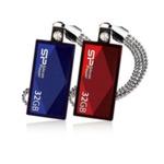SILICON POWER TOUCH 810 / 4GB / USB 2.0 / Vodě+Vibracím+Prachu odolný / Kovový / Swarovski krystal / Modrý (SP004GBUF2810V1B)