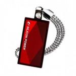 SILICON POWER TOUCH 810 / 8GB / USB 2.0 / Vodě+Vibracím+Prachu odolný / Kovový / Swarovski krystal / Červený (SP008GBUF2810V1R)