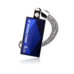 SILICON POWER TOUCH 810 / 8GB / USB 2.0 / Vodě+Vibracím+Prachu odolný / Kovový / Swarovski krystal / Modrý (SP008GBUF2810V1B)
