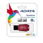 ADATA UV100 8GB / Flash Disk / USB 2.0 / červená (AUV100-8G-RRD)