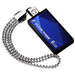 SILICON POWER TOUCH 810 / 8GB / USB 2.0 / Vodě+Vibracím+Prachu odolný / Swarovski krystal / Modrý (SPFDDT8108GBB)