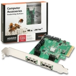 AXAGO PCES-SH4 PCIe 2-Lane řadič 4x int. / 2x ext. SATA 6G HD (PCES-SH4)