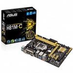 ASUS H81M-C / Intel H81 / DDR3 / SATA III / USB 3.0 / GLAN / DVI+VGA / sc.1150 / mATX (90MB0GT0-M0EAY0)