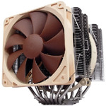 Noctua NH-D14 / 120 + 140 mm / SSO Bearing / 19.6 dB @ 1200 RPM + 19.8 dB @ 1300 RPM / 110.3 + 92.3 m3h / Intel + AMD (4716123314530)
