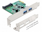 DeLock PCI Express 2x USB 3.0 + low profile (89356-delock)