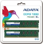 ADATA 8GB DDR3 1333MHz / KIT 2x 4GB / CL9 / DIMM / RETAIL (AD3U1333W4G9-2)